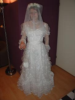 In my beautiful white wedding dress... ;-)